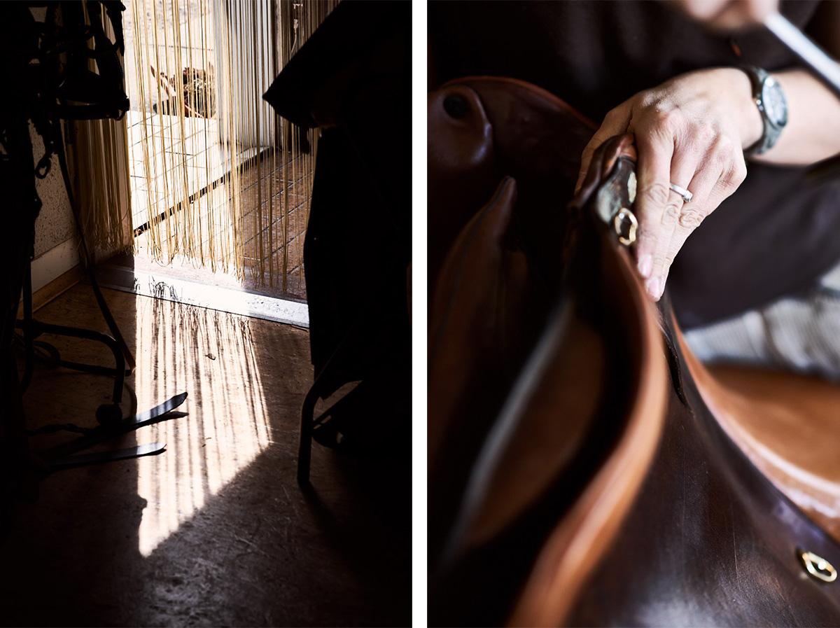 Fotoshooting, Fotograf Sattlerei bei Reutlingen, Details Handwerkskunst