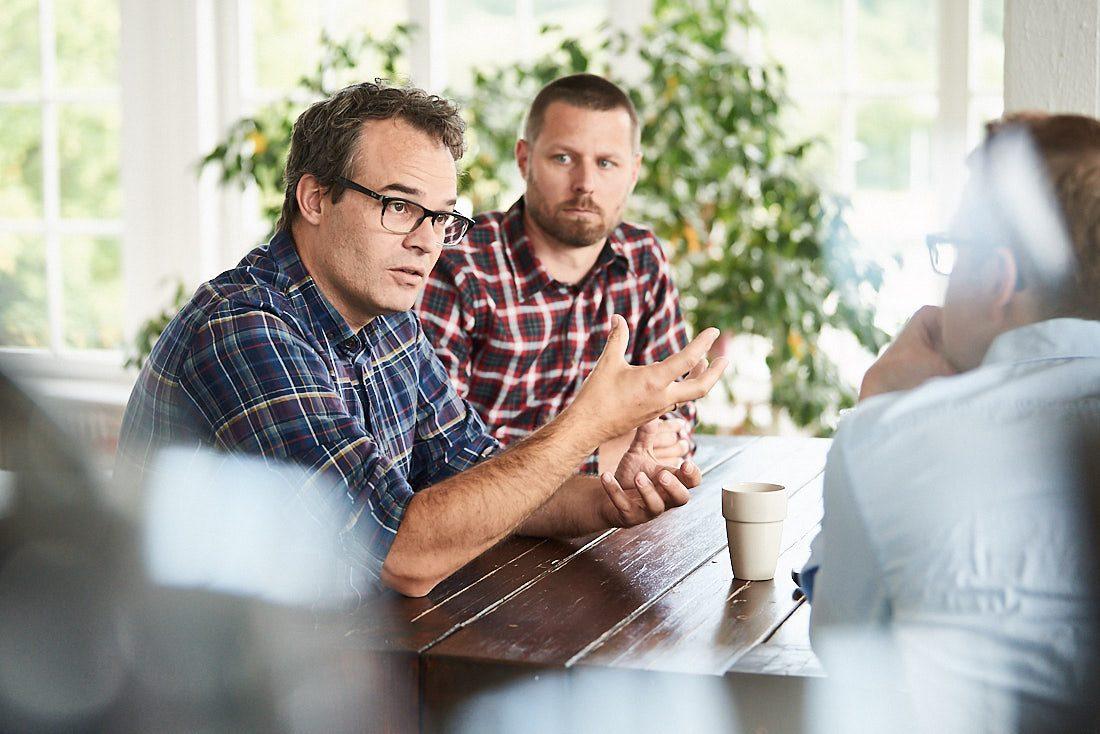 Businessfotografie und Unternehmensfotografie Meeting mit Managern