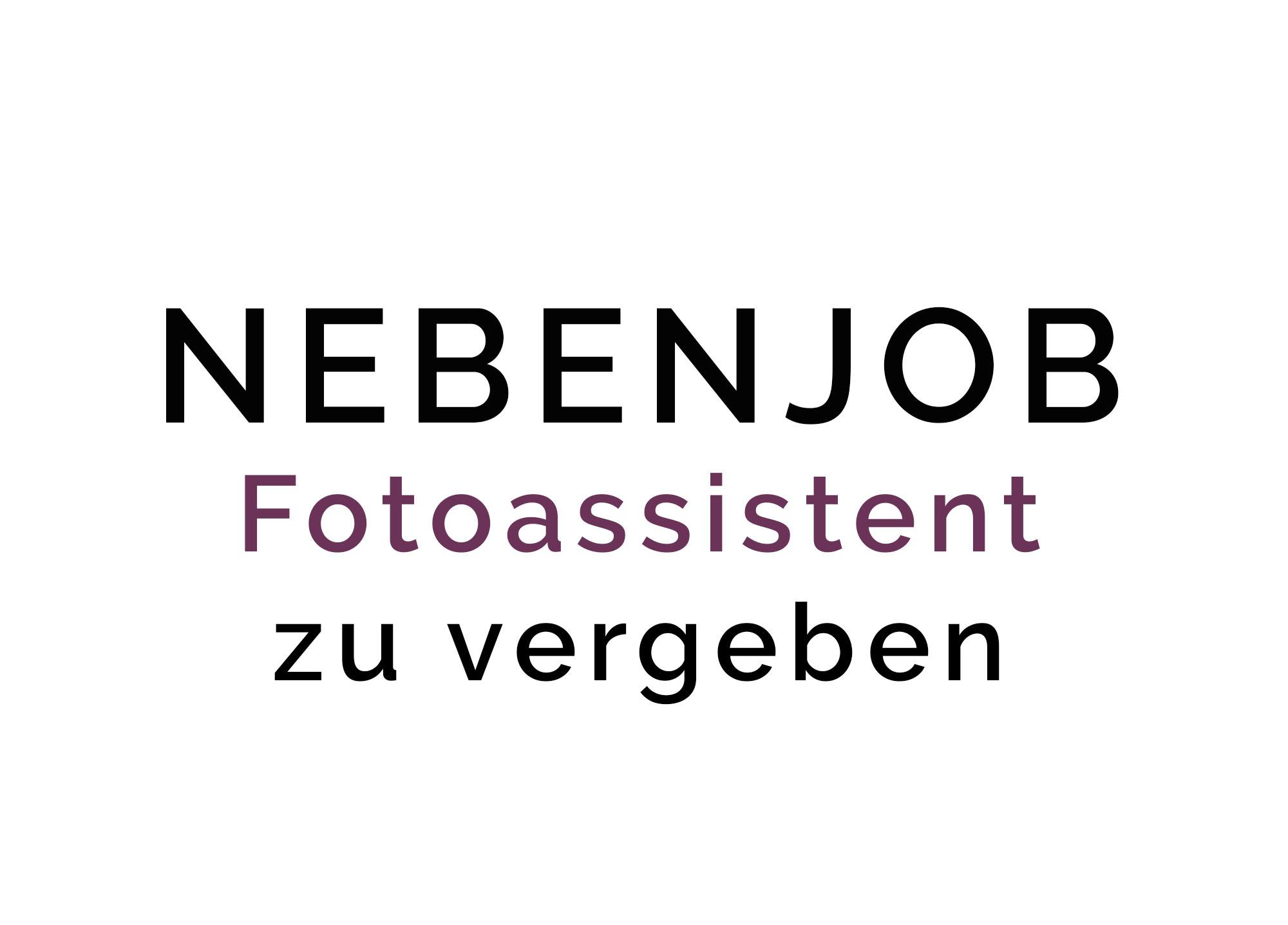 Nebenjob Tübingen Mössingen, Albstadt, Raum Stuttgart, Fotoassistent
