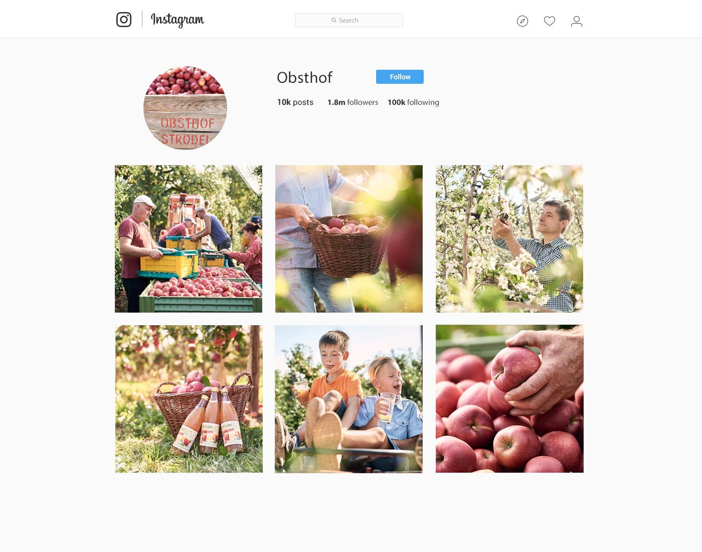 Bilderpool für instagram Business Account, Unternehmensbilder bei der Herstellung bis zu Werbefotografie